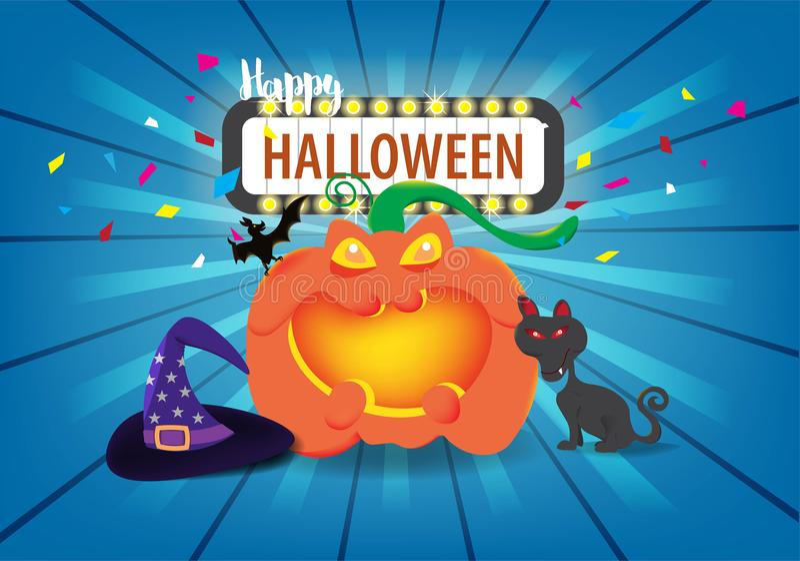Концепция торжества дня хеллоуина иллюстрация вектора