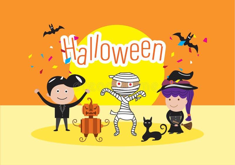 Концепция торжества дня хеллоуина бесплатная иллюстрация