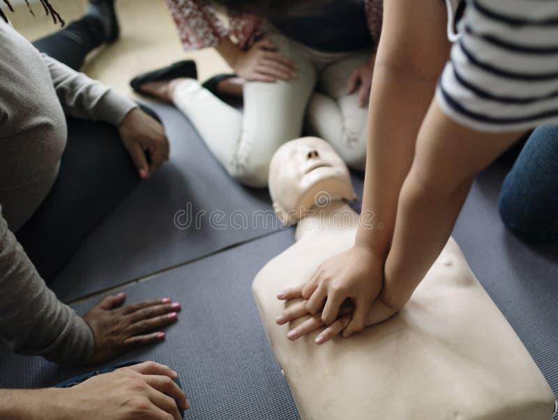 Концепция тренировки скорой помощи CPR стоковое фото
