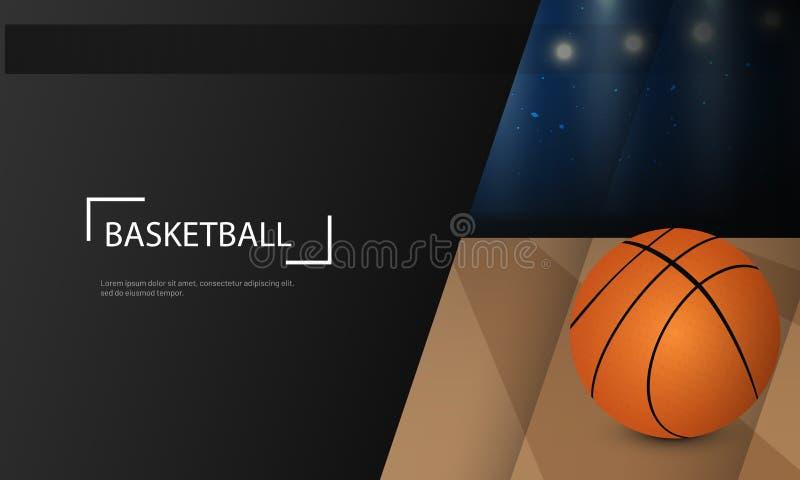 Концепция турнира баскетбола основала дизайн плаката или знамени бесплатная иллюстрация