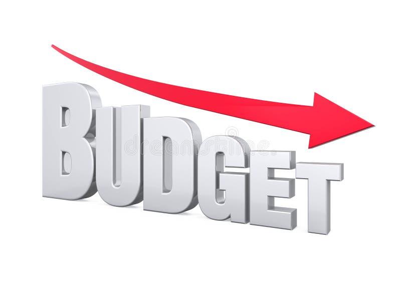Концепция уменьшения бюджета иллюстрация штока