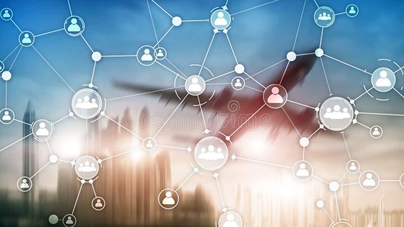 концепция управления людскими ресурсами предприятия организация структура смешанный двухразовый экран иллюстрация вектора