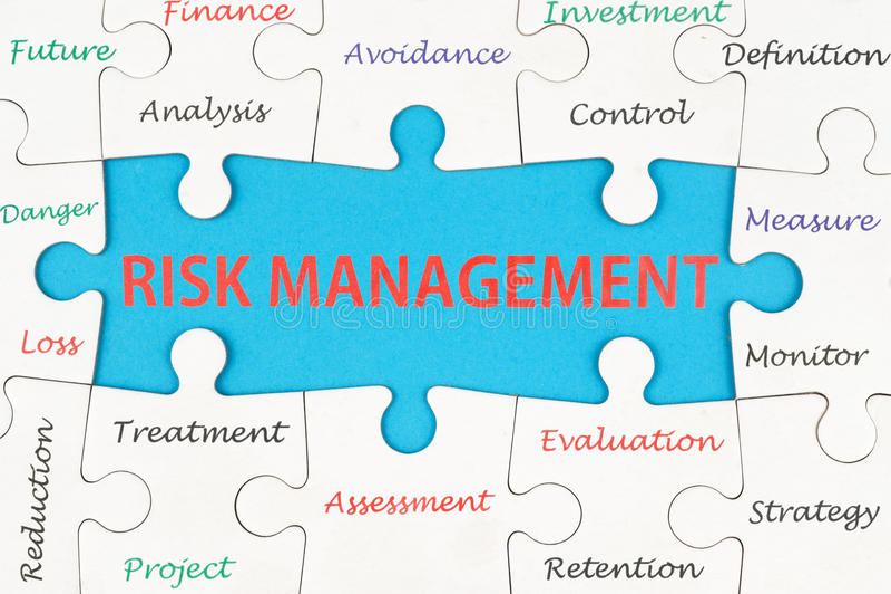 Концепция управление при допущениеи риска стоковое фото rf