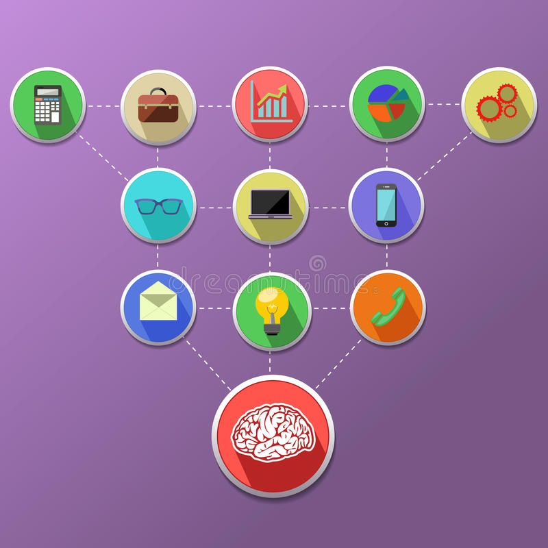 Концепция управления бизнес-процесса иллюстрация штока