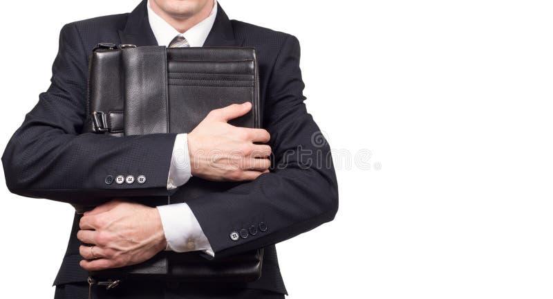 Концепция усиленного бизнесмена под давлением Страх потери работы стоковые фотографии rf