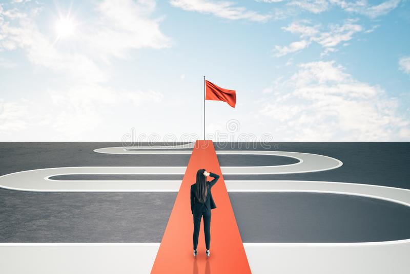 Концепция успеха и проблемы стоковое фото rf