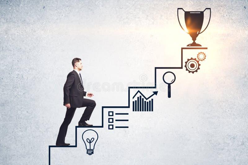 Концепция успеха и руководства стоковое фото rf