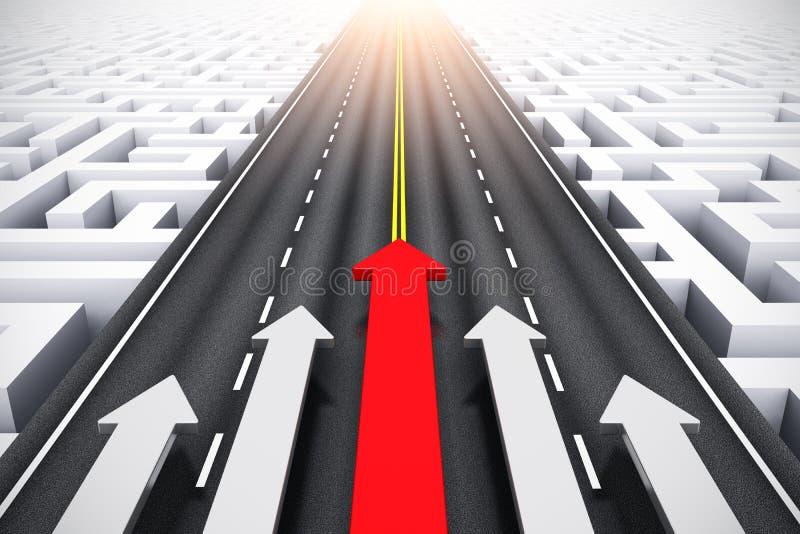 Концепция успеха и руководства иллюстрация вектора