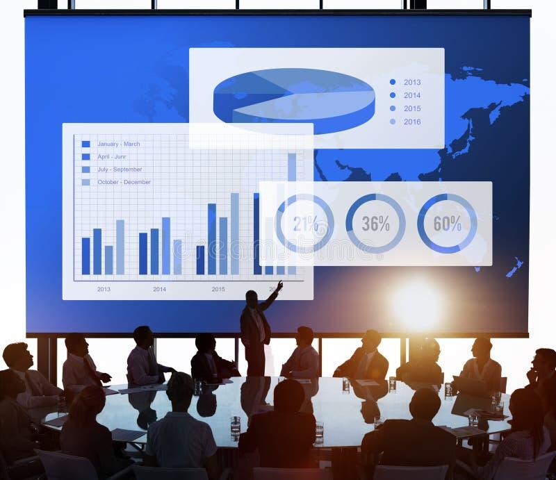 Концепция успеха организации диаграммы дела стоковые фото