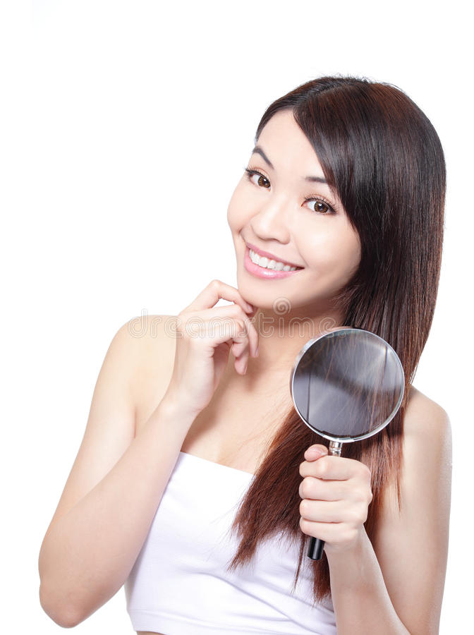 Концепция ухода за волосами женщины стоковое фото
