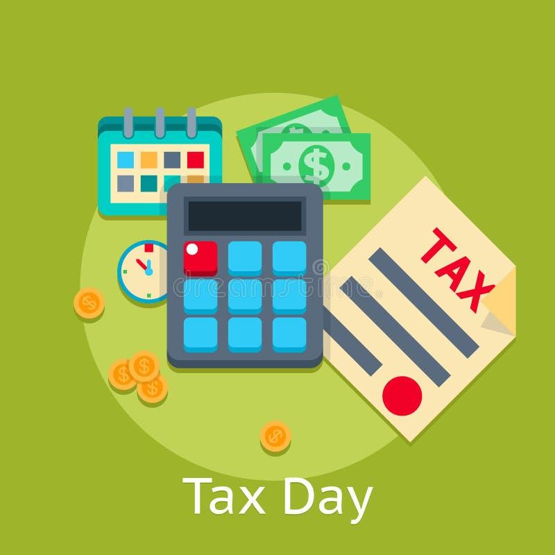 Концепция финансов дела вектора уплаты налогов плоская иллюстрация вектора