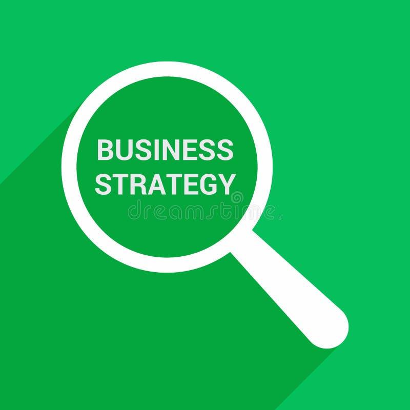 Концепция финансов: Увеличивая оптически стекло с стратегией бизнеса слов бесплатная иллюстрация