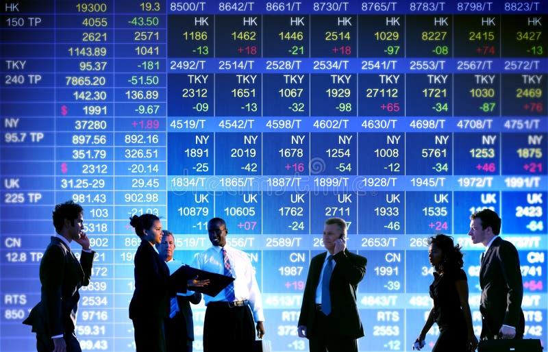 Концепция фондовой биржи дела торгуя стоковые фото