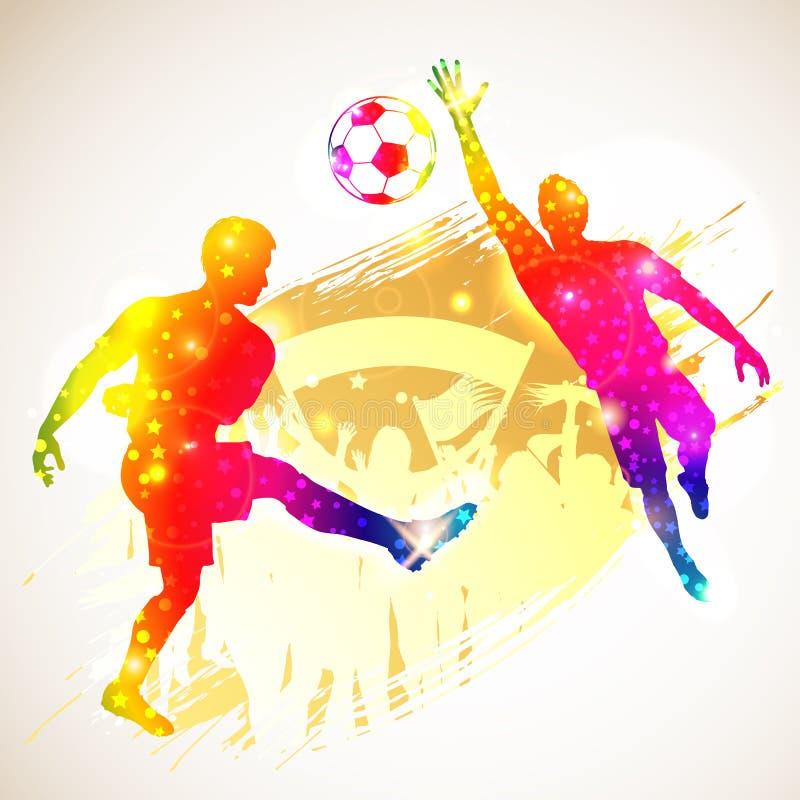 Концепция футбола иллюстрация вектора