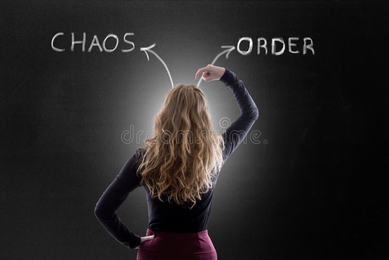 концепция хаоса или заказа стоковые изображения rf