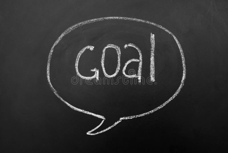 Концепция цели успешная достигая на классн классном или доске Разум или пузырь диалога с надписью сочинительства руки стоковое фото rf