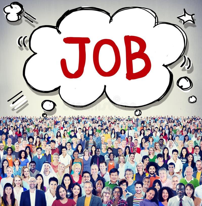 Концепция целей занятия карьеры занятости работы стоковое изображение