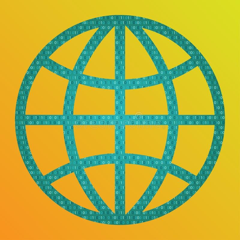 Концепция цифрового мира иллюстрация вектора