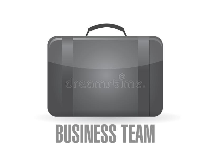 концепция чемодана команды дела стоковые изображения rf
