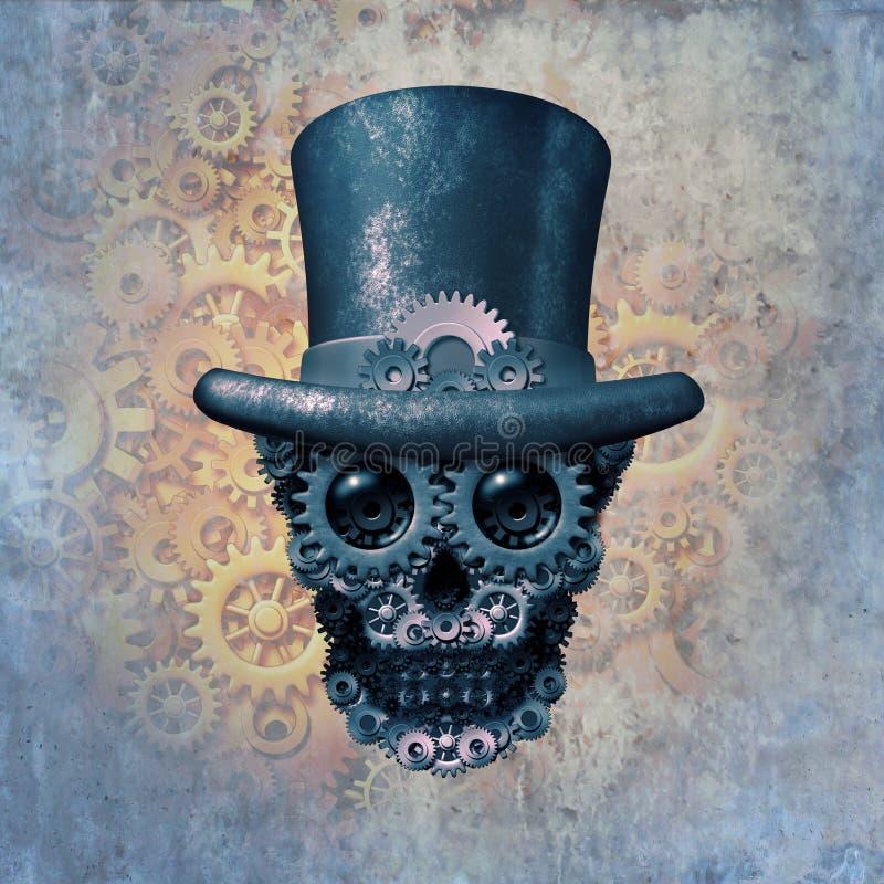Концепция черепа Steampunk бесплатная иллюстрация
