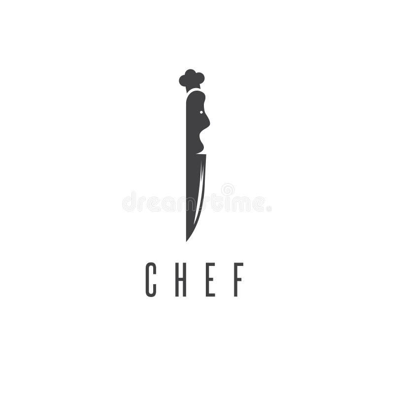 Концепция шеф-повара в форме вектора ножа бесплатная иллюстрация