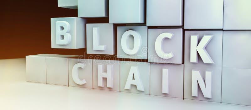 Концепция шифрования Blockchain стоковая фотография