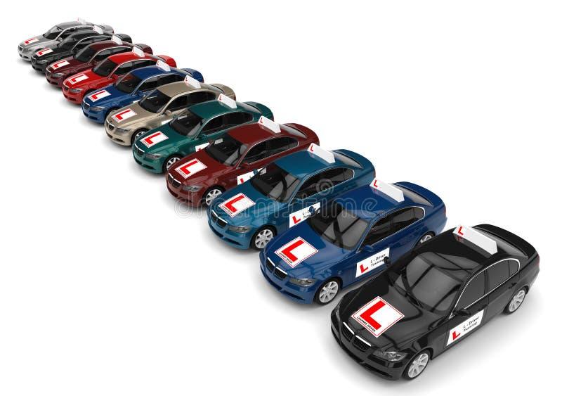 Концепция школы водительского права иллюстрация штока