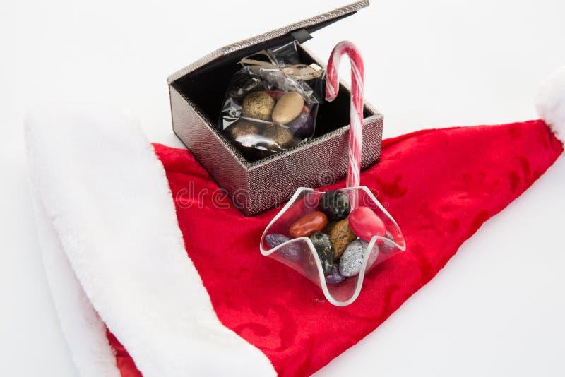 Концепция, шоколад и подарок времени рождества стоковая фотография rf