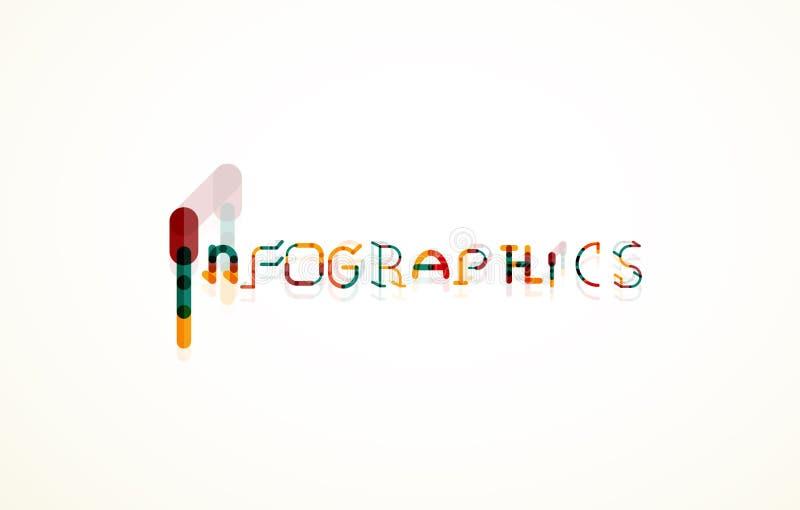 Концепция шрифта слова Infographics иллюстрация вектора