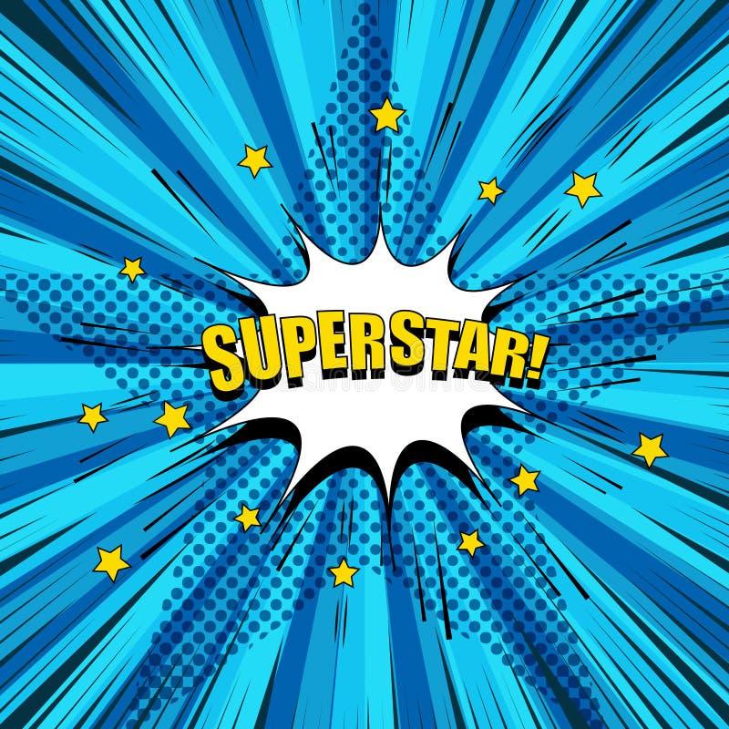 Концепция шуточной суперзвезды яркая бесплатная иллюстрация