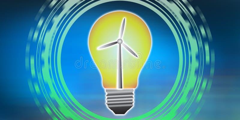 Концепция экологически чистой энергии иллюстрация штока