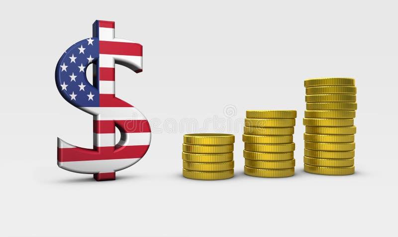 Концепция экономики США иллюстрация штока