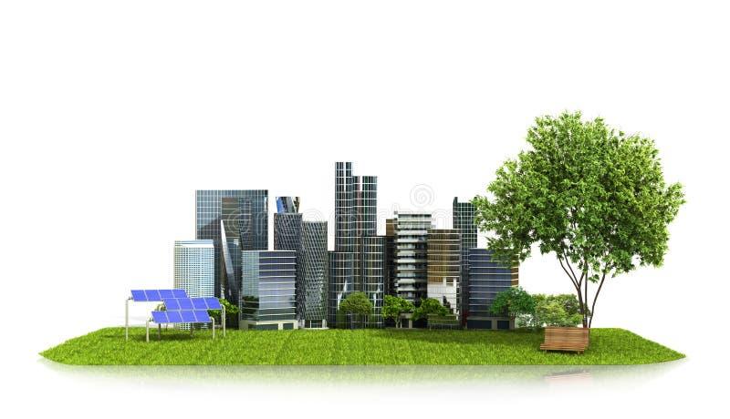 Концепция, экологичность города бесплатная иллюстрация