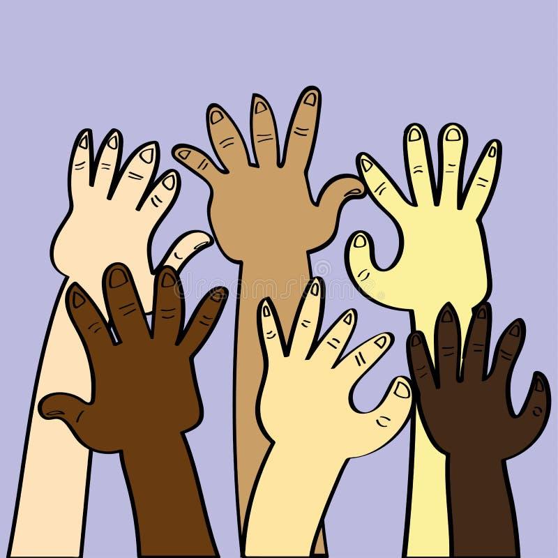 Концепция этнического разнообразия иллюстрация вектора