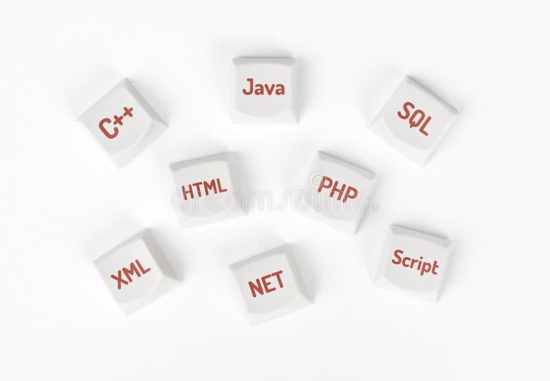 Концепция языка программирования стоковое изображение
