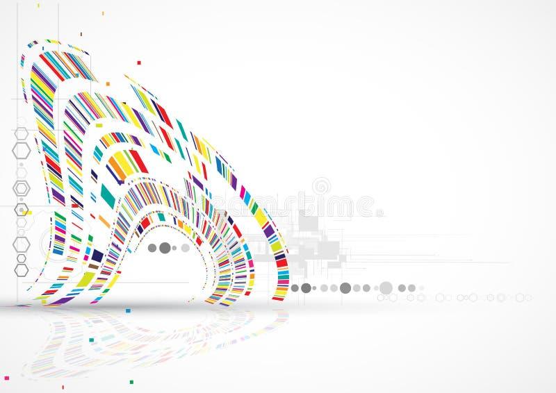 Концепция для корпоративного бизнеса & развития новой технологии иллюстрация штока