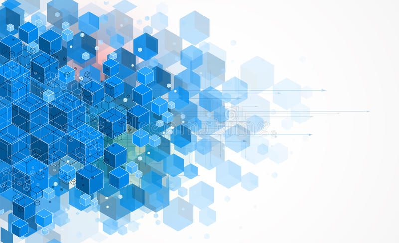 Концепция для корпоративного бизнеса & развития новой технологии иллюстрация вектора