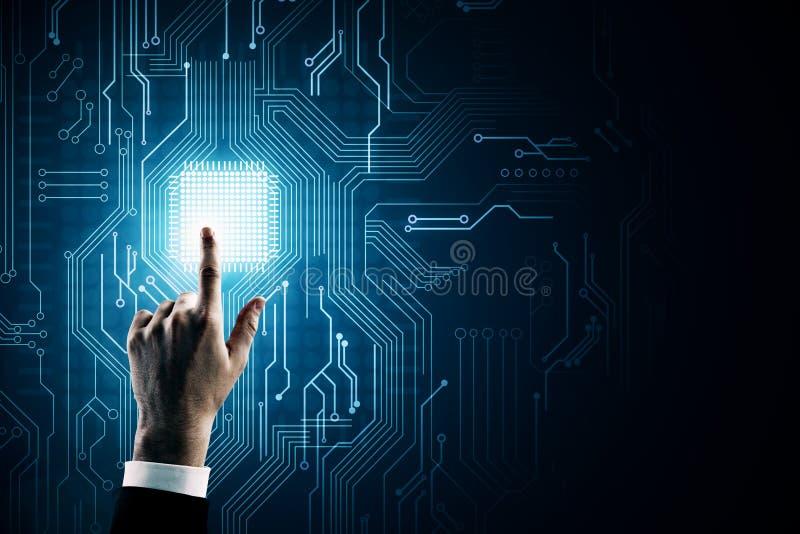 Концепция AI и технологии стоковое фото