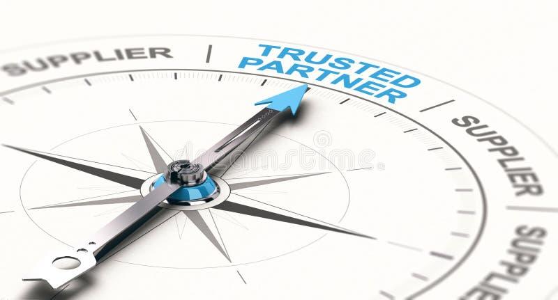 Концепция B2B, партнерство доверенного дела иллюстрация вектора