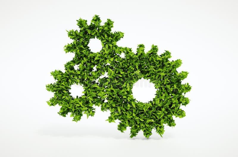 Концепция cogwheel Eco иллюстрация штока