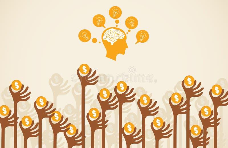 Концепция Crowdfunding иллюстрация штока