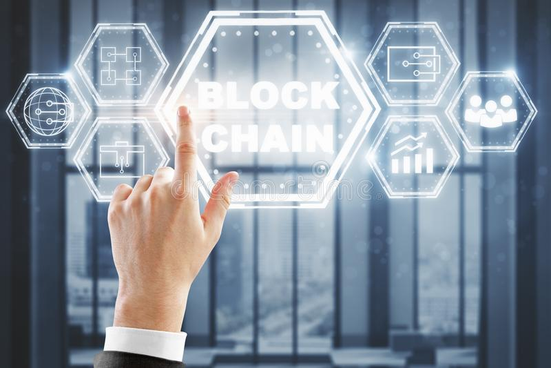Концепция Cryptocurrency, тайнописи и bitcoin стоковое фото rf
