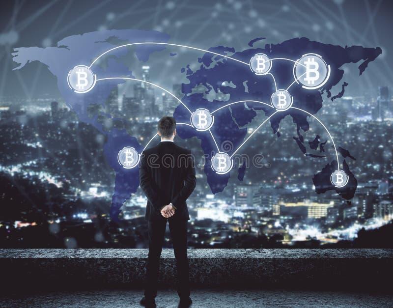 Концепция Cryptocurrency иллюстрация штока