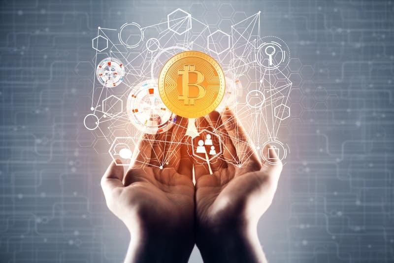 Концепция Cryptocurrency стоковое фото