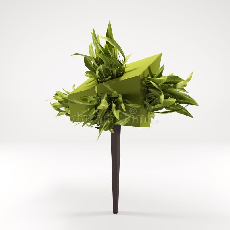 Концепция 3 d зеленого дерева стоковое фото