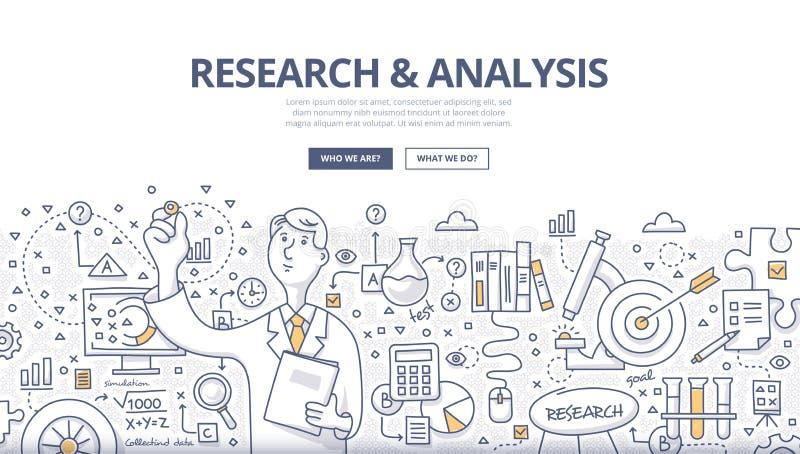 Концепция Doodle исследования & анализа иллюстрация штока