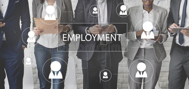 Концепция Emplyment работы карьеры рабочего места рекрутства стоковые фото