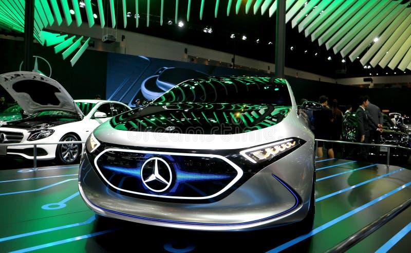 Концепция EQA Мерседес-Benz хэтчбека -класса стоковое изображение