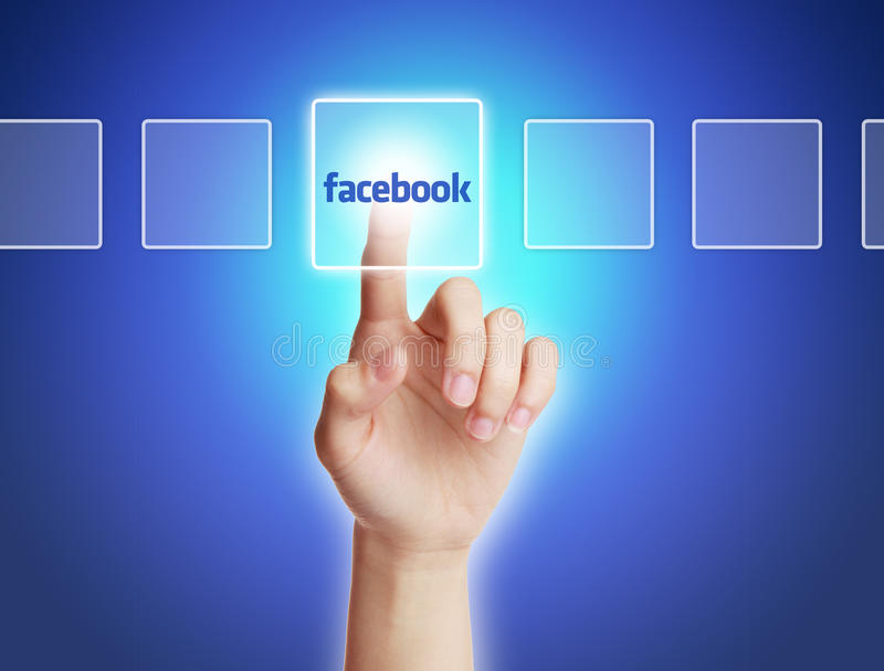 Концепция Facebook стоковое фото