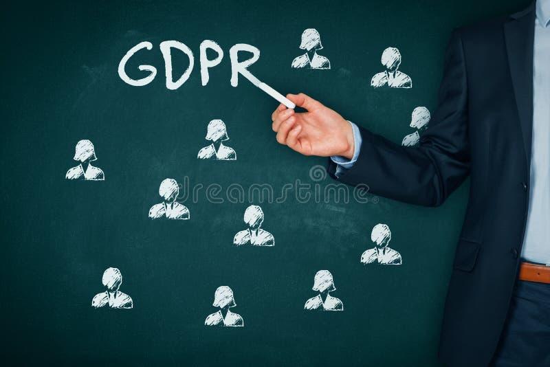 Концепция GDPR стоковое изображение rf